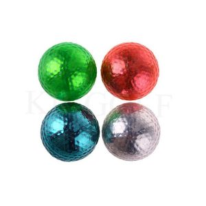 Metallic golf ball