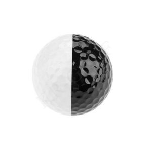 Two color golf balll