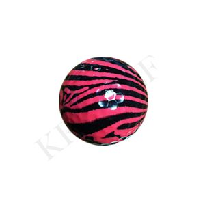 Novelty golf ball-zebra
