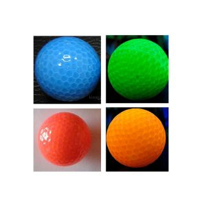 Miniature blacklight responsible golf ball